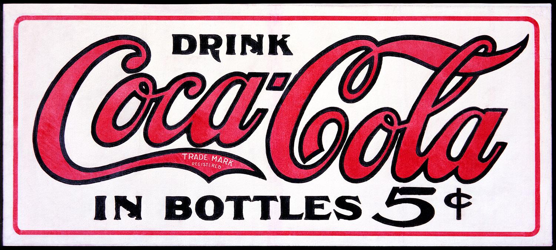 Vintage coca cola logo black