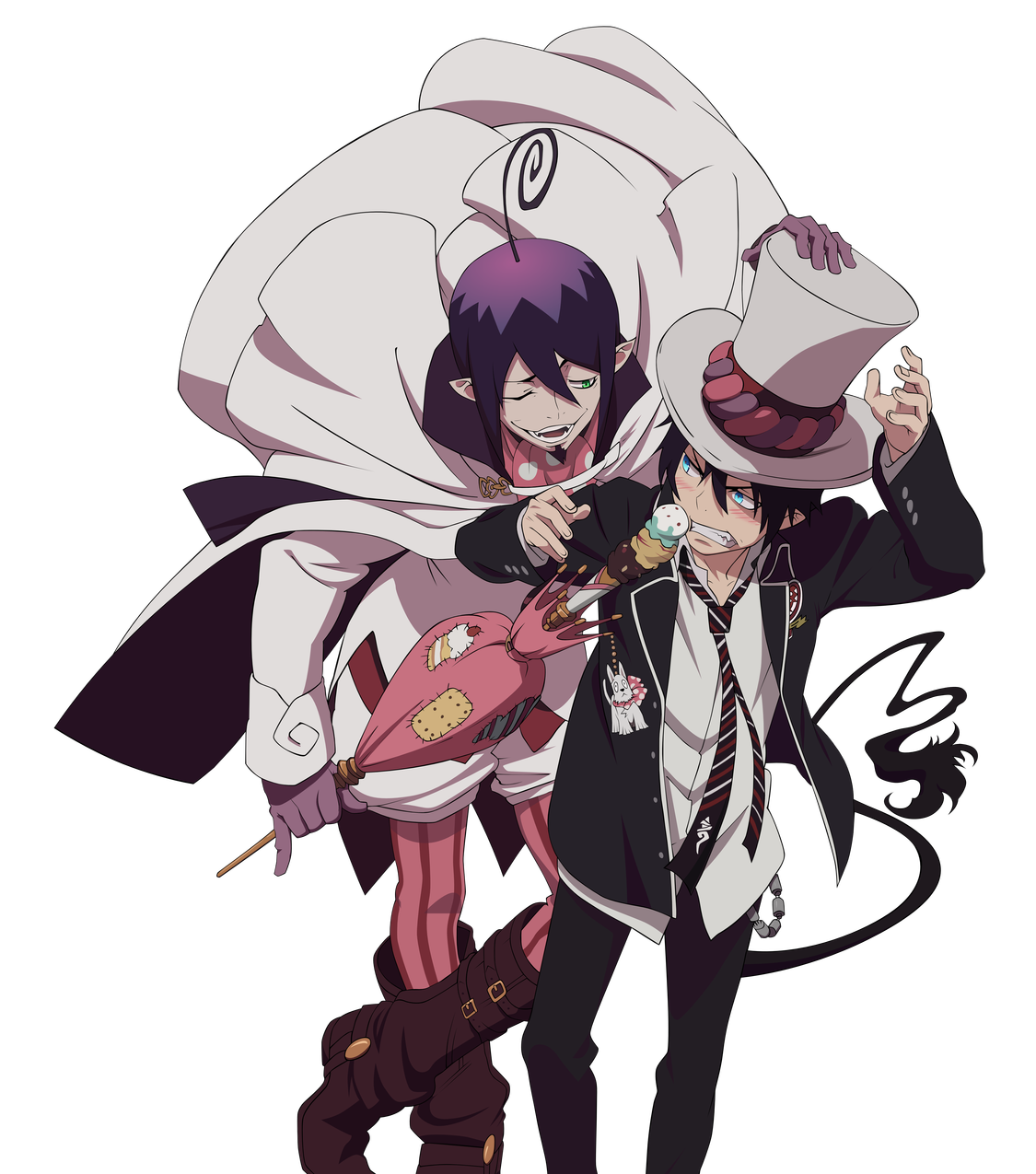 Blue exorcist mephisto dog