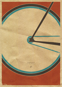 SingleSpeed Retro Bike Poster
