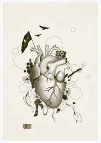 I Love Design - Illustration Art