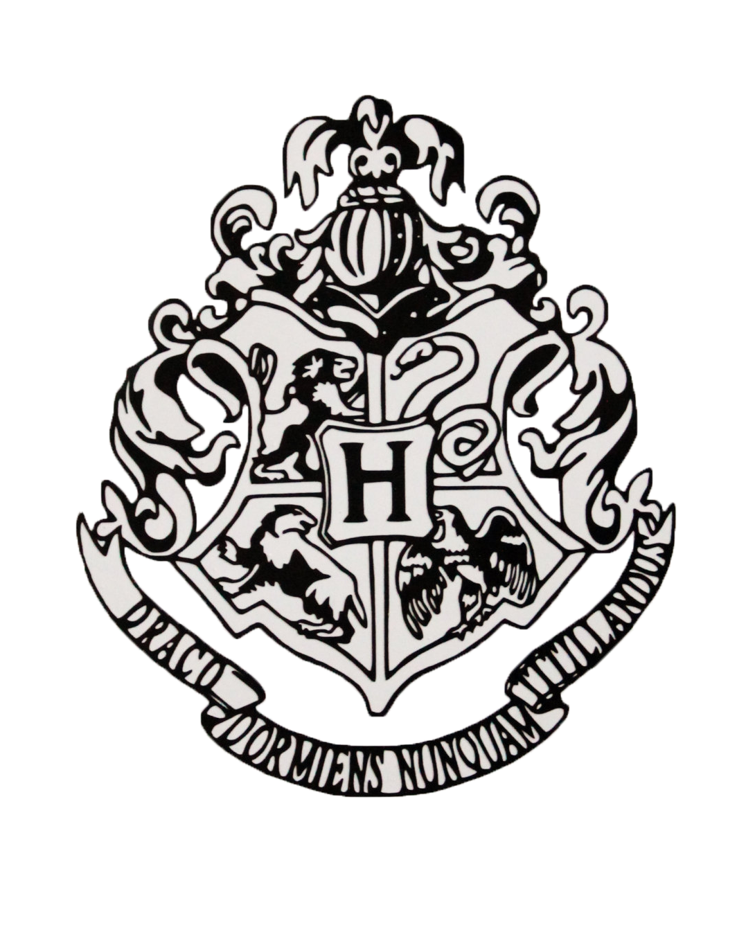 hogwarts crest outline or how to draw