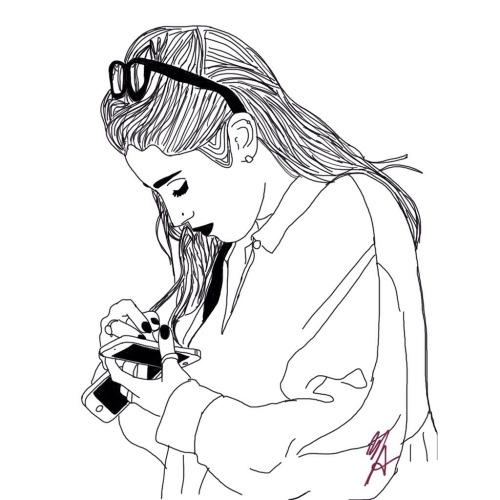 Line Drawing Of Girl Tumblr : Traíra fanfic camren