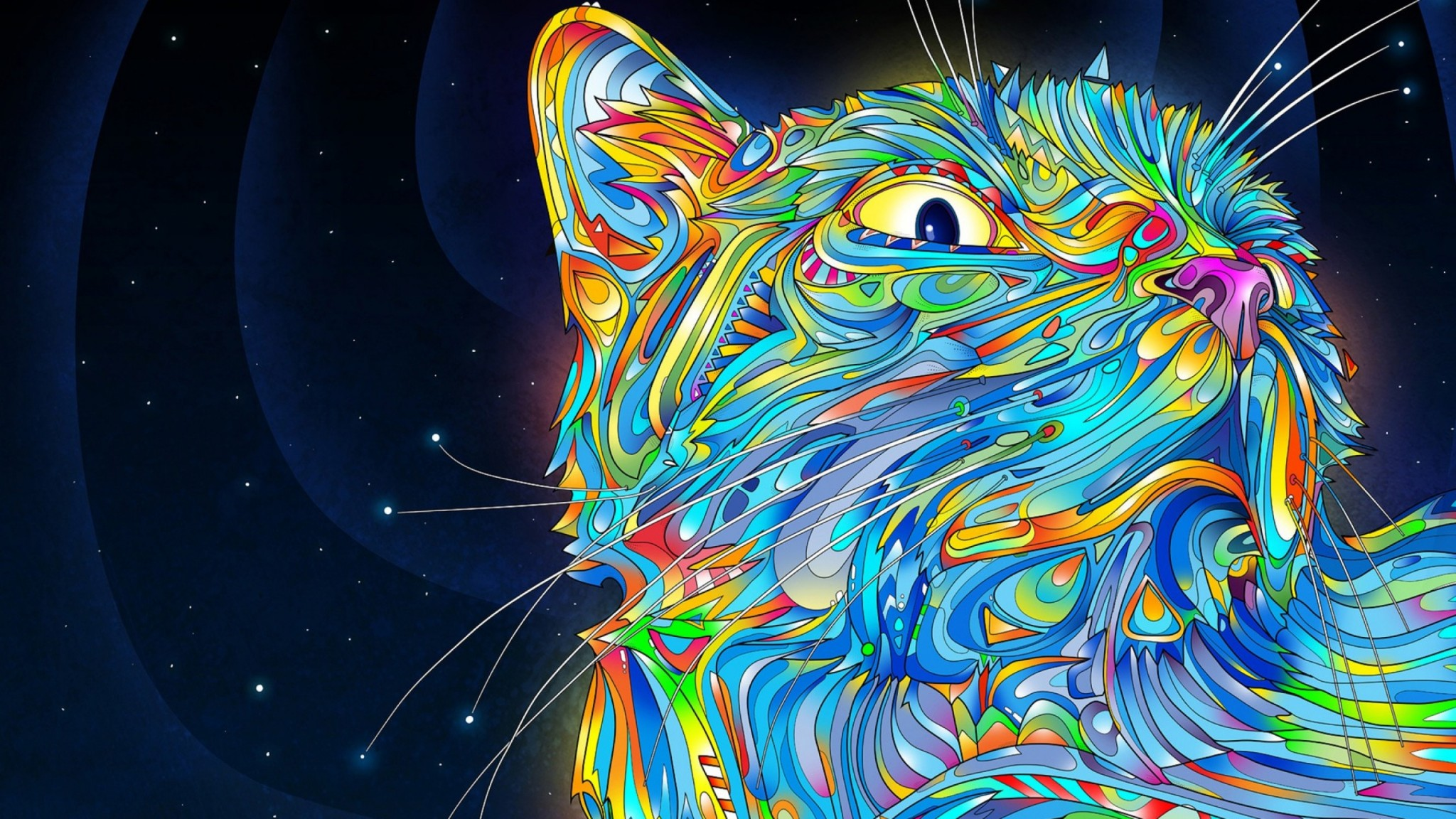 Popular Wallpaper Home Screen Trippy - tumblr_static_colorful-cat-1152x2048  You Should Have_745731.jpg