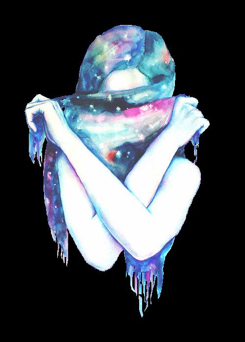 Transparent tumblr galaxy