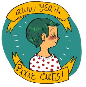 aww yeah, pixie cuts!