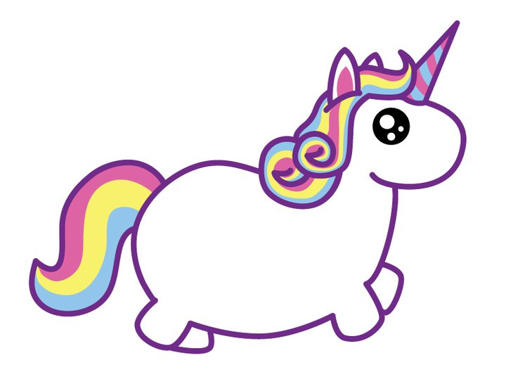 Cute cartoon unicorns