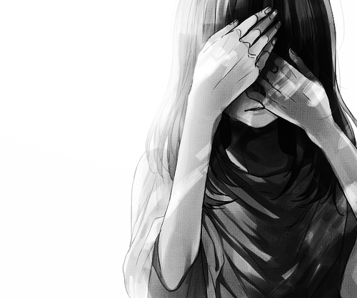 Anime Girl Hiding Face Pictures to Pin on Pinterest ...