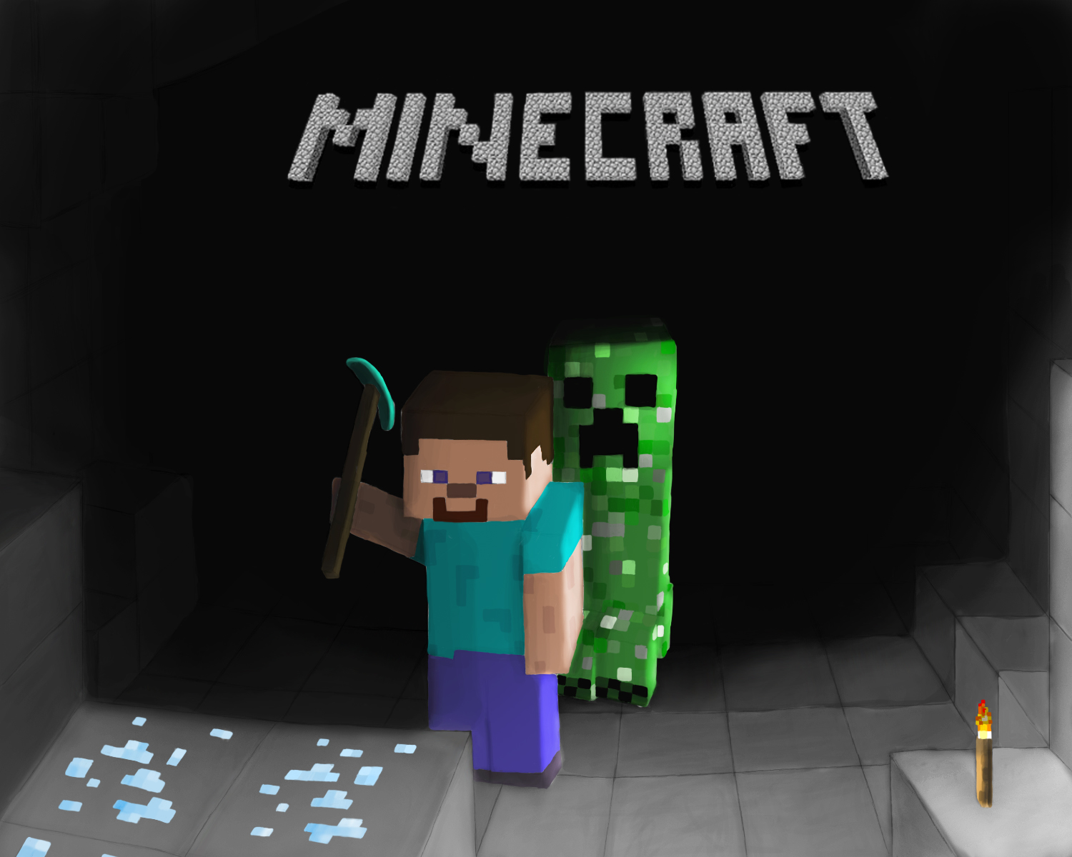 Minecraft anime creeper girl naked