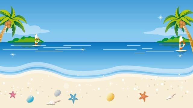 Tropical beach desktop