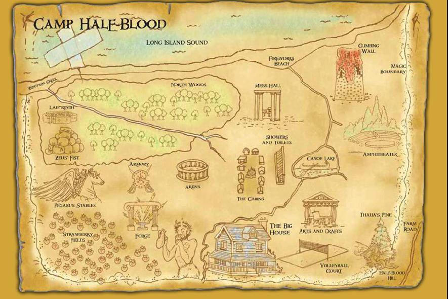 O Acampamento Mapa