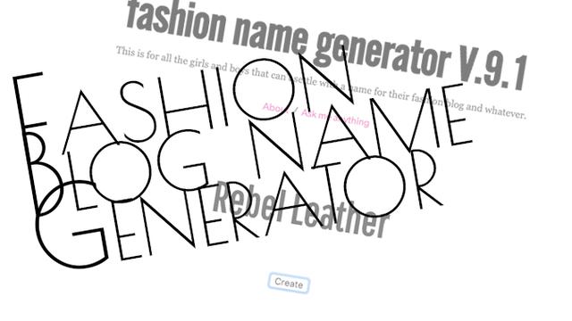 FashionNameGeneratorV