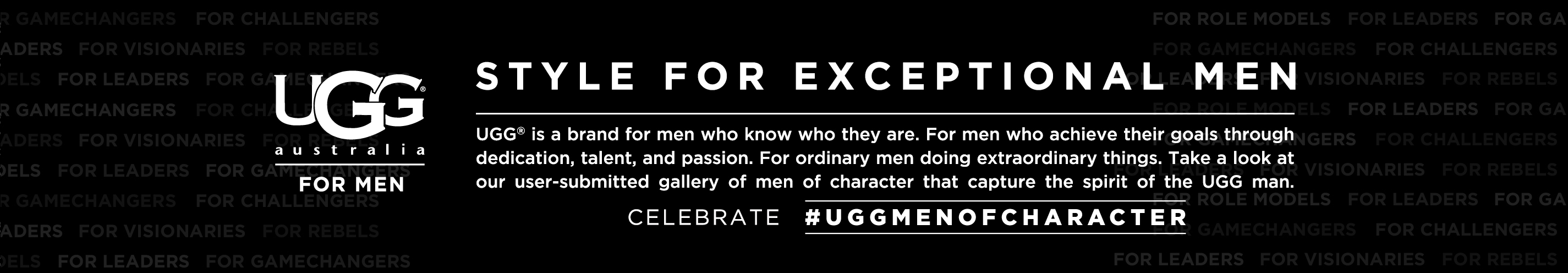 UGG Australia Men of Character Contest