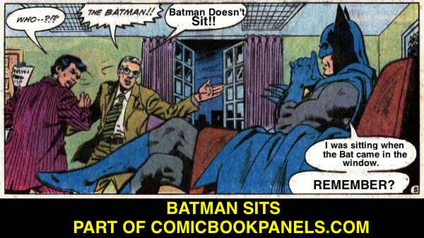 Batman Sits