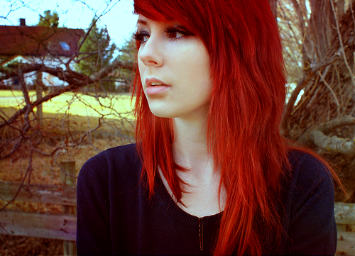 Teen Girl with Red Hair