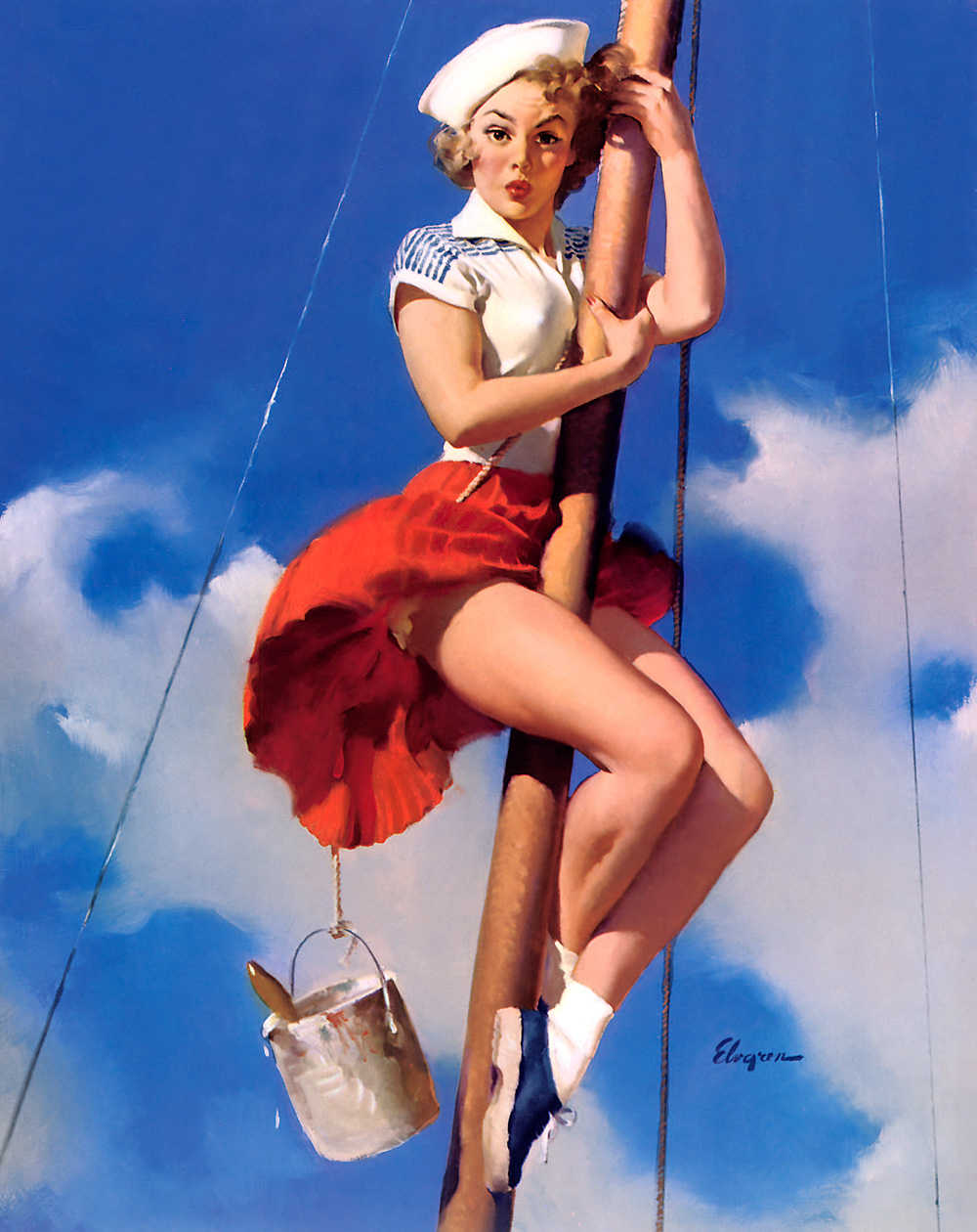 Hello sailor pinup girl