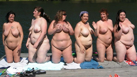 Фото девушек голые толстых
