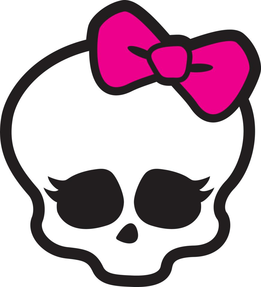 Cute skulls decals for girls