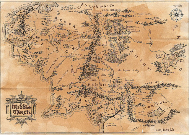maps of middle earth tumblr