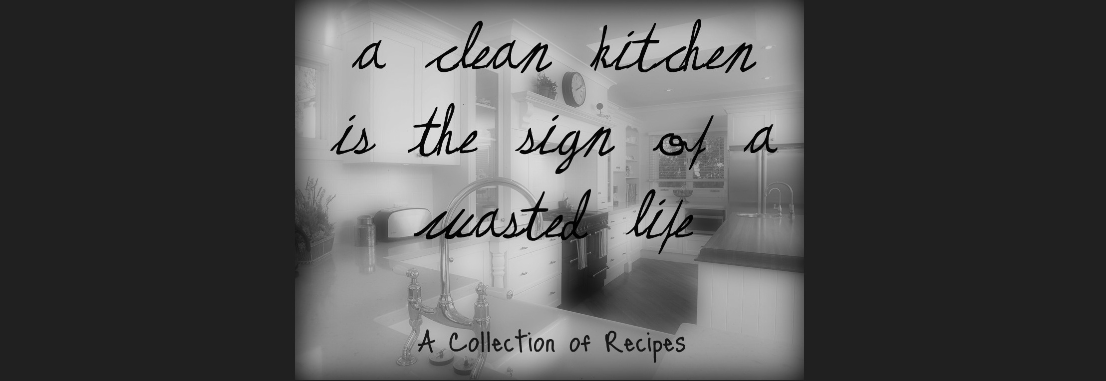 A Clean Kitchen is the Sign of a Wasted Life