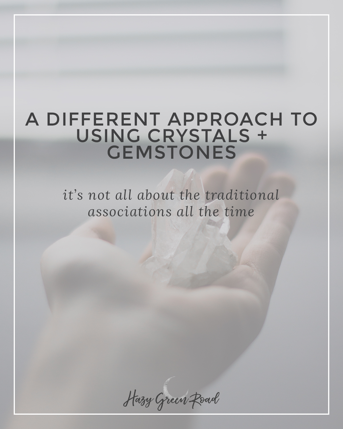 Using crystals and gemstones in your practice doesn't have to equate to traditional meanings. A different approach is needed!