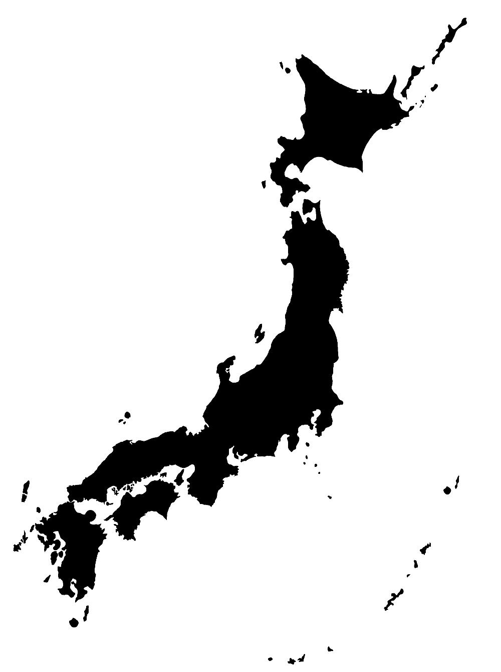 Japan Map Png - Japan map png