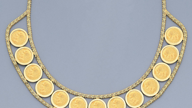 image golden coin argento double necklace larger to gold click en com view m