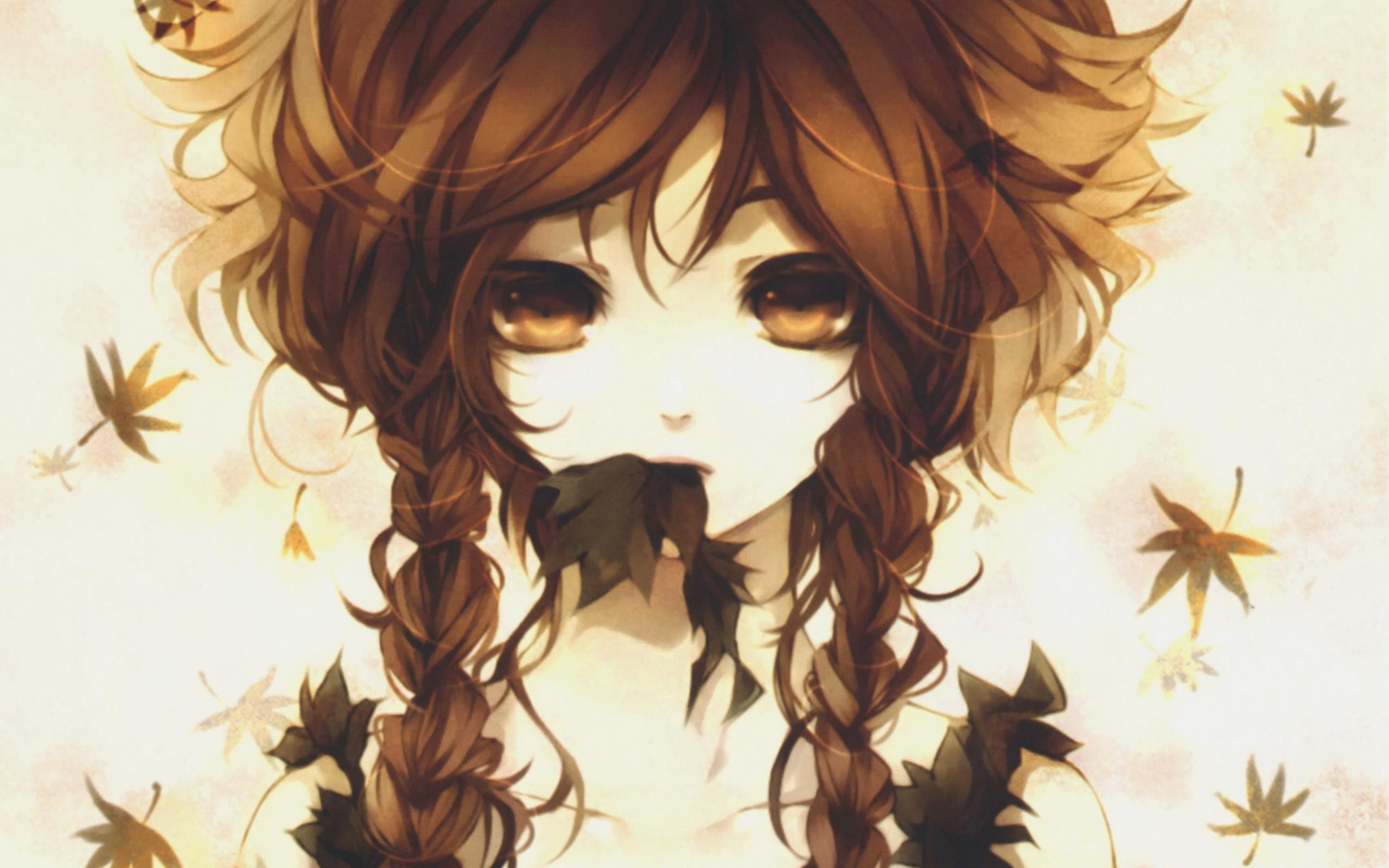 Dark haired tresses