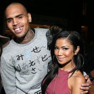 Photo of Jhené Aiko & her friend musician  Chris Brown - Los Angeles