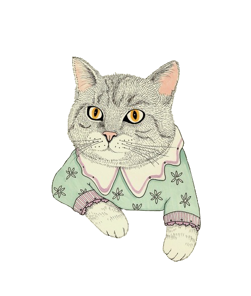 Тумблер рисунок кот