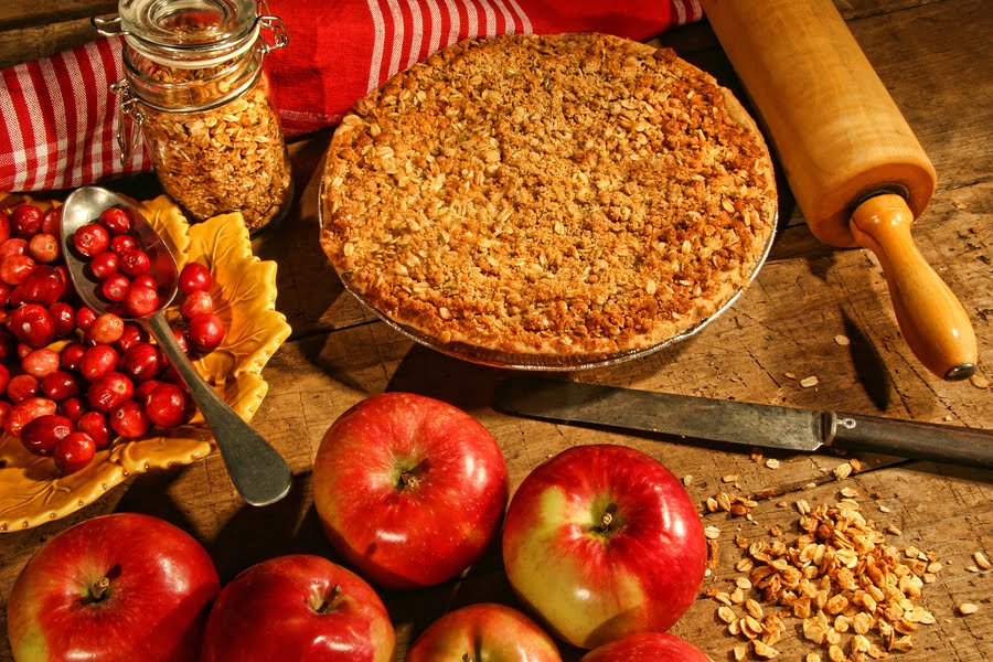 Low fat apple crumble