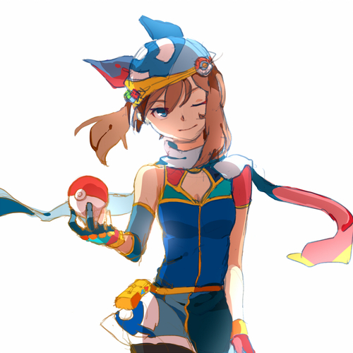 May In Sapphire Blue Outfit Pokemon