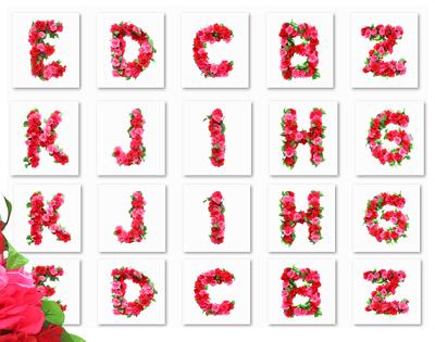 سكرابز حروف الورد فوتوشوب