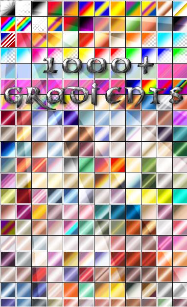 اكثر من 999 تدرج لوني في ملف واحد #photoshop