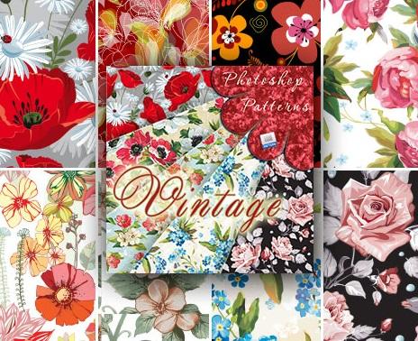 1| مجموعة باترن فوتوشوب ورود وزهور جميلة