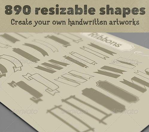 890 شكل فوتوشوب متنوعة جديدة, مع نماذج
