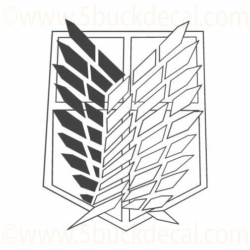 Tumblr Static Attack On Titan  Survey Corp Emblem Wings Of Freedom
