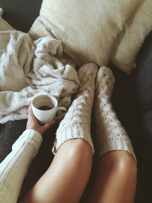 Long Fluffy Bed Socks