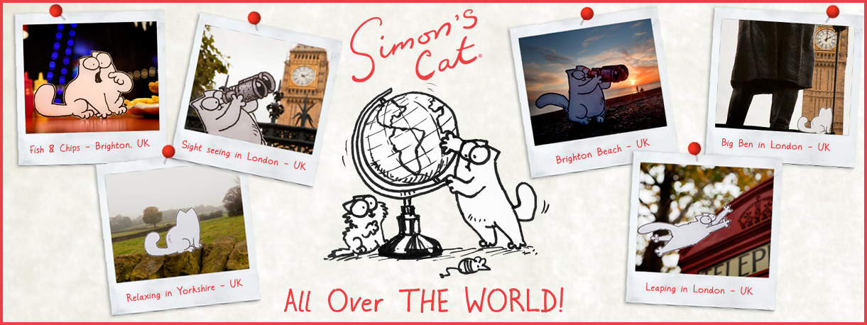 Simons Cat All Over THE WORLD!