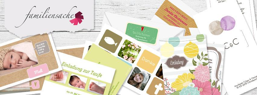 Geburtskarten Taufkarten Hochzeitskarten Familiensache Bietet