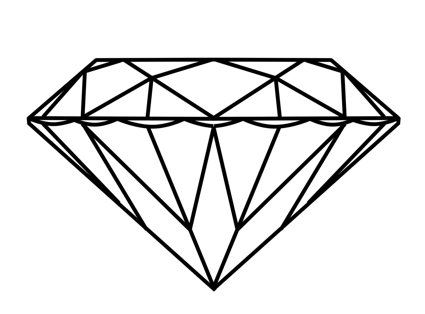 Simple diamond line drawing