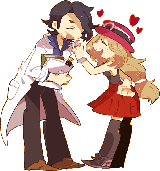 kiss ; loveSerena And Professor Sycamore
