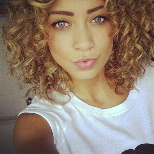 pretty tumblr mixed girls with curly hair. Black Bedroom Furniture Sets. Home Design Ideas