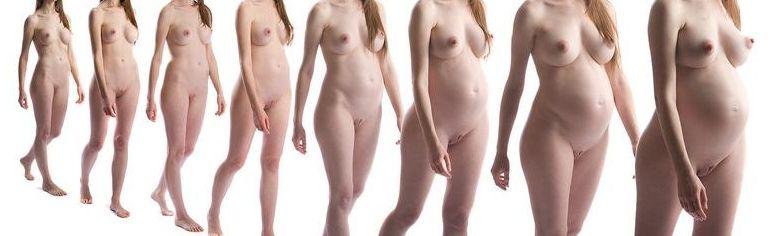 Pregnant nude week to week