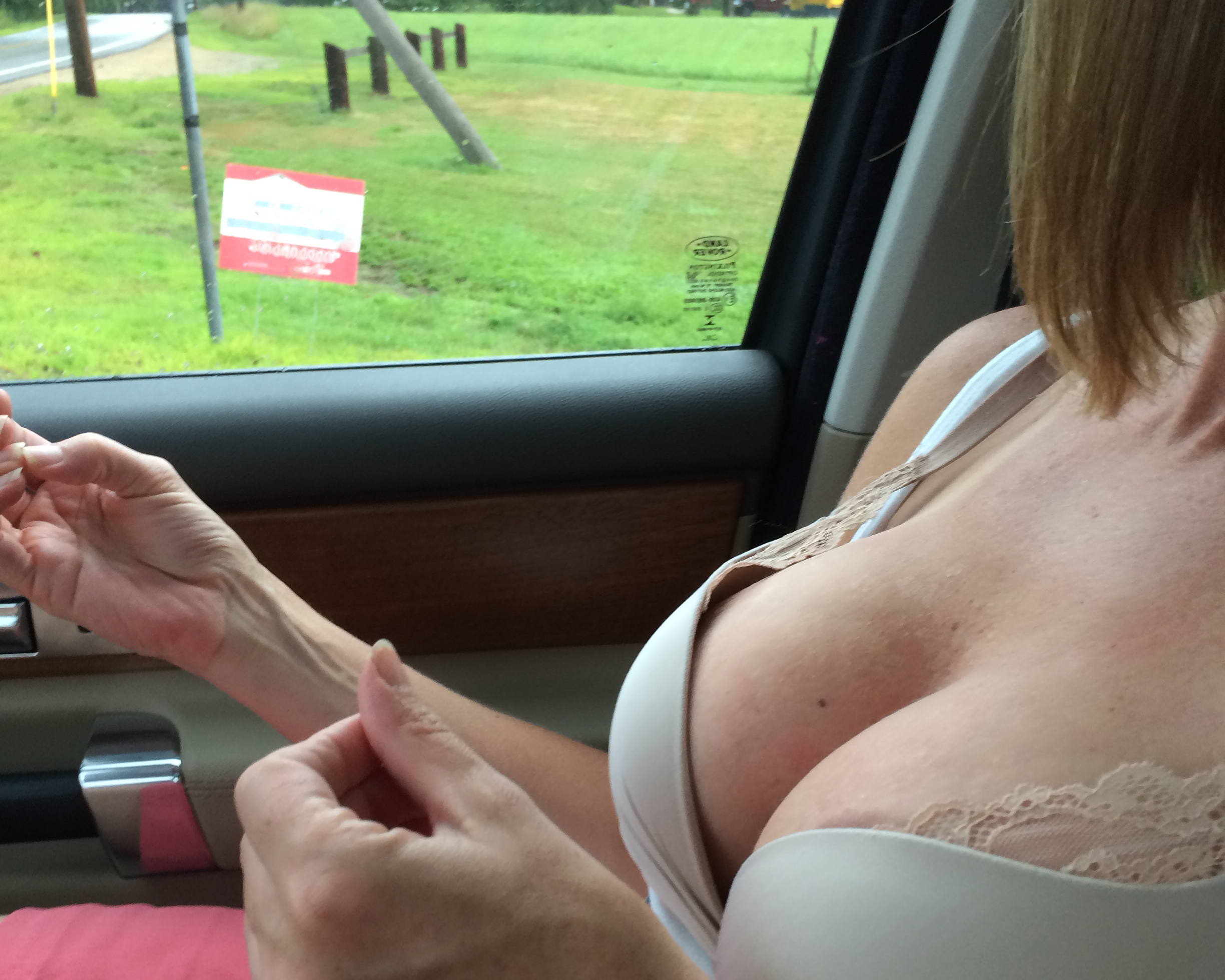 riding in car naked
