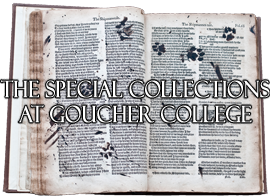 The Special Collections at Goucher