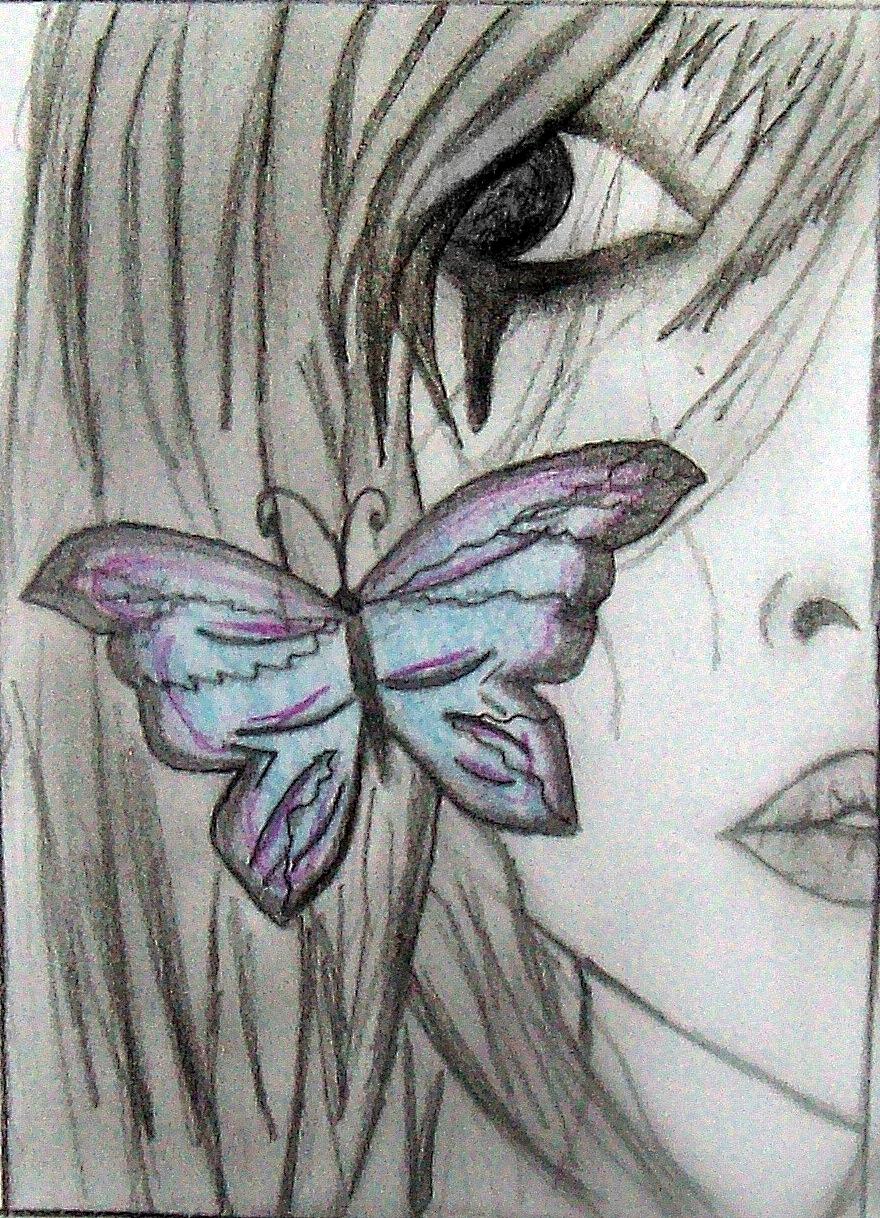 Anime drawings emo angel boy