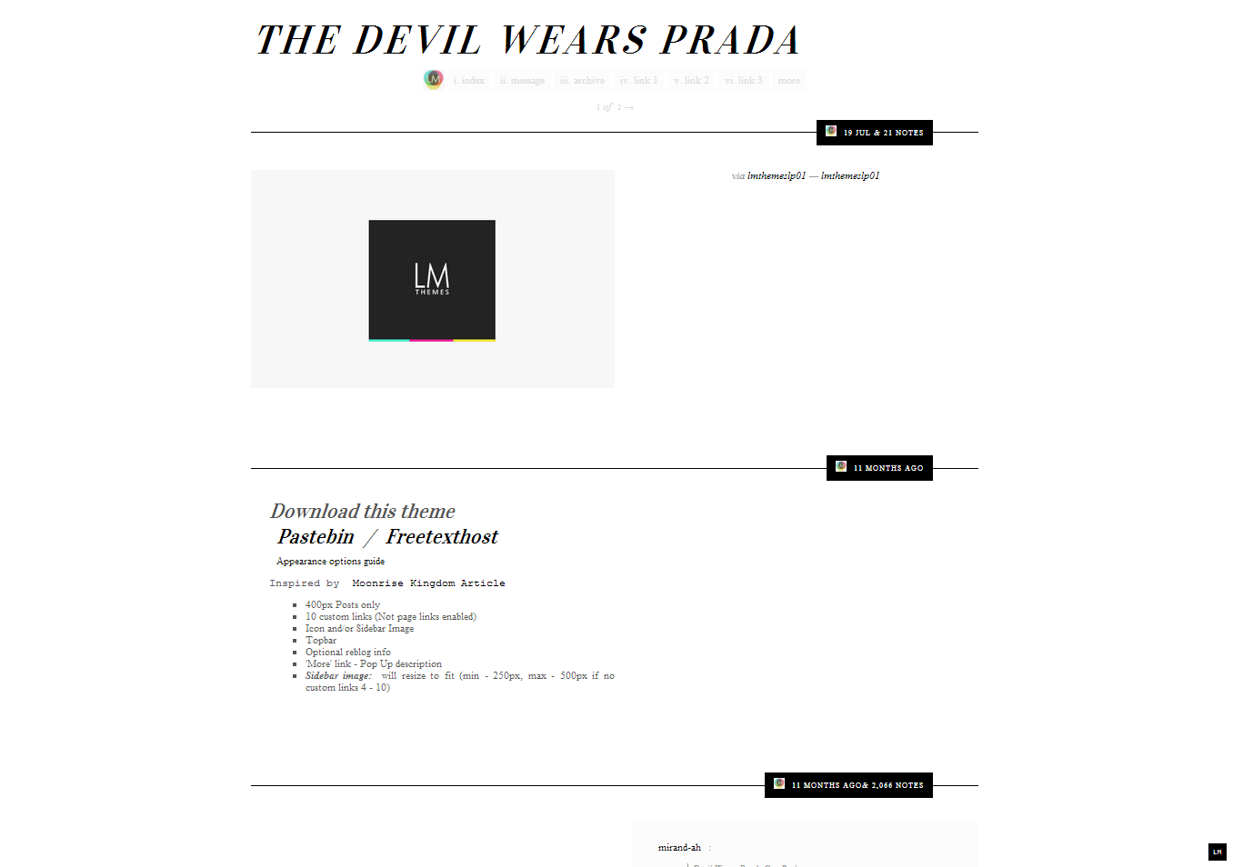 the devil wears prada theme