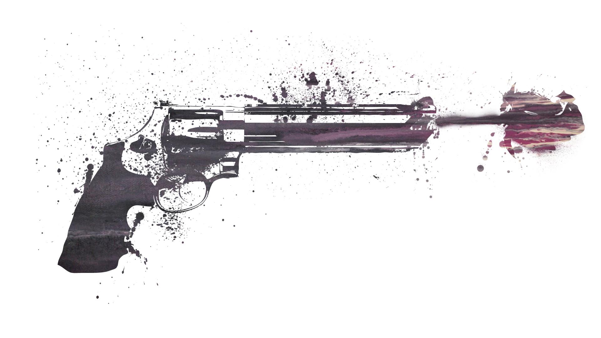 Cowboy shooting guns
