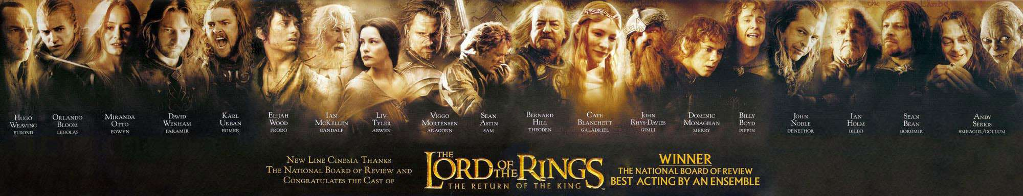 All The Characters Names In Lord Of The Rings