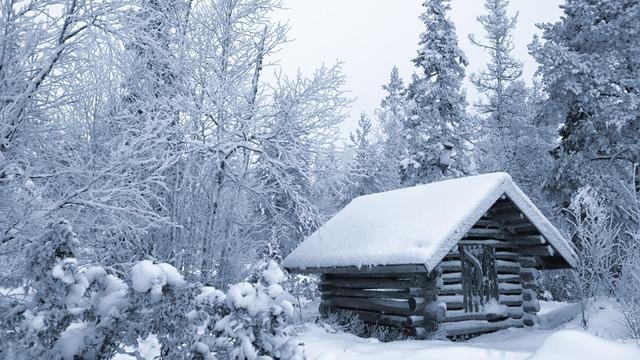 Resultado de imagen para cabin snow tumblr
